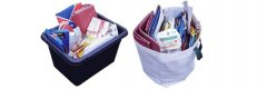 Cardboard collection containers - box and bag