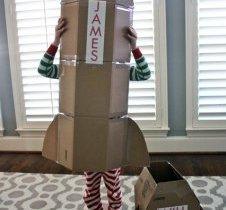 Cardboard Rocket by Built by Kids