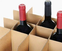 corrugated partitions,  dividers for wine carton