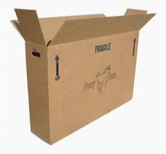 corrugated shipping box, cardboard shipping carton
