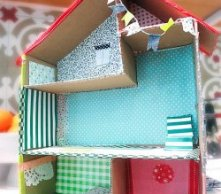 DIY Cardboard Dollhouses Made By Kids