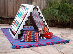 DIY Collapsible Cardboard Tent Craft