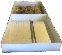 double compartment whelping box