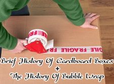 history of corrugated cardboard boxes