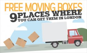 infographic header moving boxes