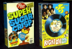 Jackson Five Cereal Box Record
