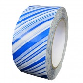 Security Packing Tape, White/Blue