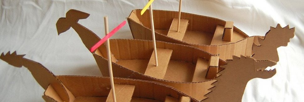 Crafts with cardboard boxes
