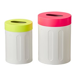 SPRUTT stool with storage, set of 2, assorted colours