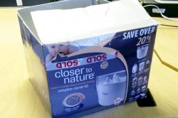 The box in which the abandoned baby was found. Police are appealing for witnesses after a baby was found abandoned outside a house in Corby at 9am today.