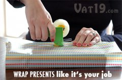 The Mini Tape Gun makes wrapping presents a breeze