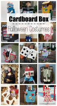 These Cardboard Box Halloween Costumes are so imaginative, fun and cheap to make!