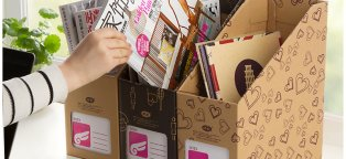 Magazine Storage boxes Cardboard