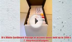 10 x White Cardboard Storage or Archive Boxes hold up to