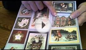 48 PACK OF VINTAGE CHRISTMAS PAPER & DIE CUTS