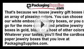 Affordable Cardboard Jewelry Boxes