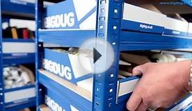 BiGDUG Storage Bays With Flat Pack Cardboard Bins