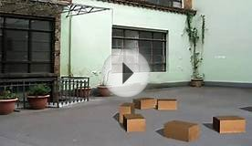 cardboard boxes fall on the floor - different animations