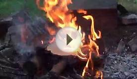 Cardboard Burns Quick In A Fire