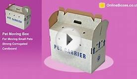 Cardboard Pet Carrier Box