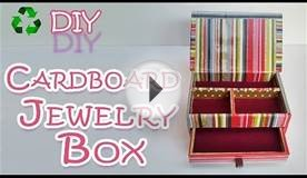 DIY CRAFTS: How to make a Cardboard Jewelry Box - Ana