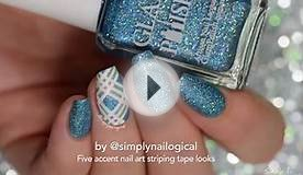 Easy striping tape nail art ideas