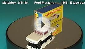 Ford Mustang Matchbox MB 8 e 1966 E type box