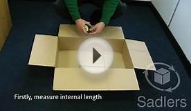 How to Measure a Cardboard Box (LxWxH)