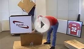 How to pack a flat screen tv! Awesome packing box
