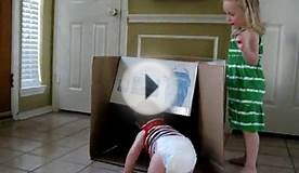 Kids playing with box
