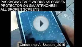 PACKING TAPE WORKS AS SCREEN PROTECTOR ON SMARTPHONES