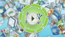 Print Paper Packaging - Recycling Digital Sign
