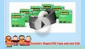 Scotch Magic Tape 6-Roll Value Pack with C38 Black