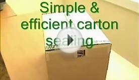 Sealing Cartons With Gummed Paper Tape Demonstration