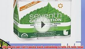 Seventh Generation White Paper Towels 2-ply 140-sheet