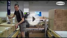 Vacuum Tube Lifter - Handling Cardboard boxes in a