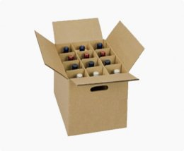 wine shipping carton box with dividers
